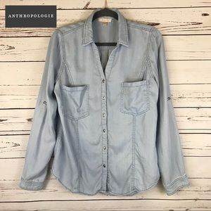 Like NEW Skies are Blue Chambray Button Down
